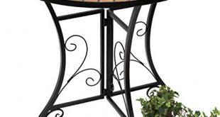 DanDiBo Tisch Halbrund Konsolentisch Wandtisch 120041 Beistelltisch Metall Mosaik 70 310x165 - DanDiBo Tisch Halbrund Konsolentisch Wandtisch 120041 Beistelltisch Metall Mosaik 70 cm