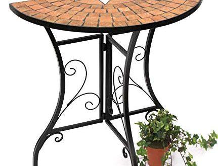 DanDiBo Tisch Halbrund Konsolentisch Wandtisch 120041 Beistelltisch Metall Mosaik 70 431x330 - DanDiBo Tisch Halbrund Konsolentisch Wandtisch 120041 Beistelltisch Metall Mosaik 70 cm
