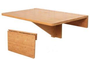 SoBuy FWT031-N Wandklapptisch Klapptisch Tisch Küchentisch Kindermöbel aus Bambus 60x40cm
